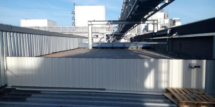 Beplating t.b.v. ophogen dak corridor