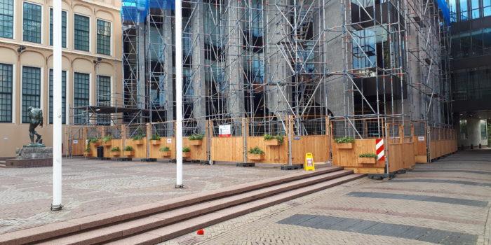Groene bouwhekken Stadhuis Zwolle