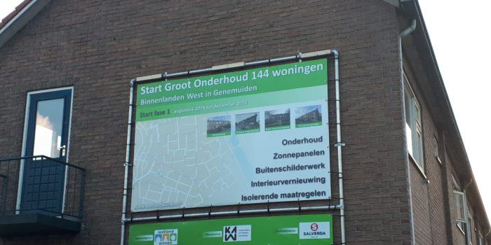 Groot Onderhoud 144 woningen Genemuiden