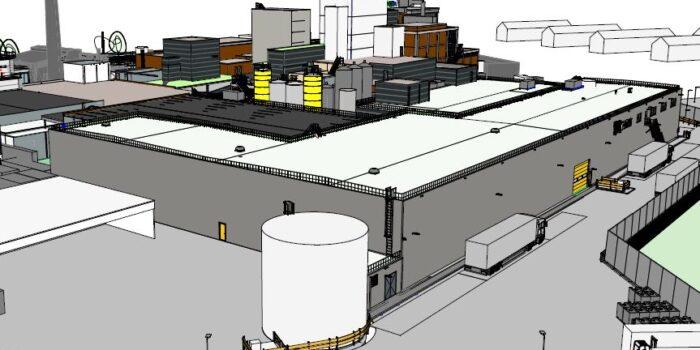 In juli 2020 is Salverda Bouw gestart met de nieuwbouw van een magazijn met kantoren bij de bestaande fabriek van Nestlé Nederland te Nunspeet.