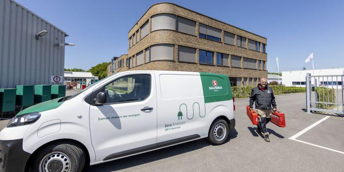 Nederland, 't Harde, 31 mei 2021. Electrische auto van Salverda. Fotografie: Jean-Pierre Jans